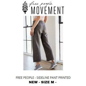 NWT FREE PEOPLE MOVEMENT sideline pant printed M